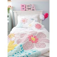daisy floral cot bed quilt childrens bedding babyface