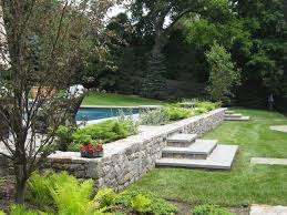 stone wall planters outdoor ideas in traditional style diei us