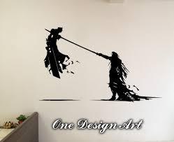 cloud and sephiroth final fantasy vii home decor mural arts
