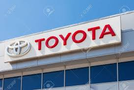 dealer toyota samara russia may 24 2014 the emblem toyota on the office