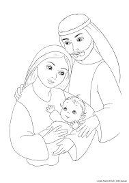 jesus mary and joseph coloring page advent pinterest joseph