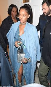 Ready to party  Rihanna was dressed to the nines in dazzling blue as she headed Daily Mail