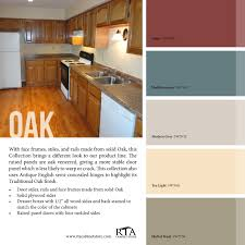 Kitchen Oak Cabinets by Color Palette To Go With Our Oak Kitchen Cabinet Line Color