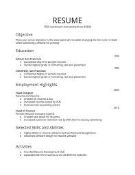 Sample Resume Objectives For Web Developer by Resume Template General Objective Resume Sample Simple Resume