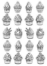 twenty good cupcakes cup cakes coloring pages for adults