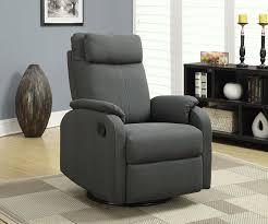 Swivel Recliner Chairs For Living Room Amazon Com Monarch Specialties Charcoal Grey Linen Fabric Swivel