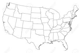 Blank Us Map Pdf by Vector Map Of United States Of America With States Outline Us And
