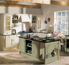 rustic kitchen ideas green lime color wooden cabinets brown