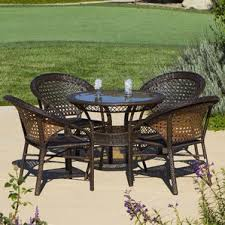Wicker Outdoor Furniture Sets by Four Person Patio Dining Sets You U0027ll Love Wayfair