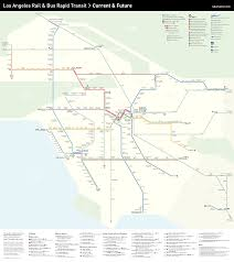 Metro Lines Map by Mapping The Future Of L A Transit Urbanize La