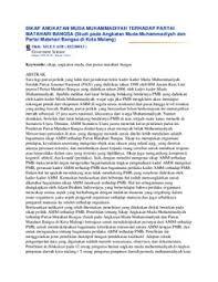 SIKAP ANGKATAN MUDA MUHAMMADIYAH TERHADAP PARTAI MATAHARI BANGSA (Studi pada Angkatan Muda Muhammadiyah dan Partai Matahari Bangsa ... - SIKAP_ANGKATAN_MUDA_MUHAMMADIYAH_TERHADAP_PARTAI_MATAHARI_BANGSA