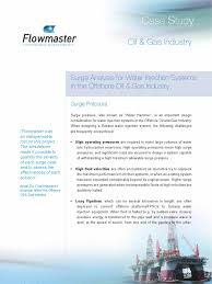 flowmaster case study surge analysis pipeline transport subsea