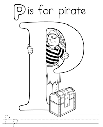 pirate free alphabet coloring pages alphabet coloring pages of