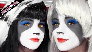 Monster Halloween List by The Werecat Sisters Monster High Doll Costume Makeup Tutorial For