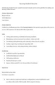 Student Resume Summary Examples by Sample Resume Nursing Student No Experience Resume Examples No