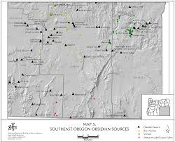 Oregon Map by Obsidian Source Maps United States