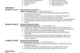 Financial Planner Resume Sample by Personal Financial Advisor Resume Example Finance Sample Resumes