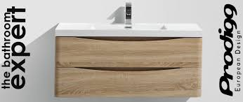 bathroom smile 100cm wall hung vanity in brown for bathroom
