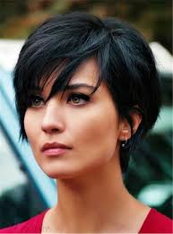 layered natural black pixie short messy synthetic hair with