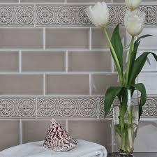 Ceramic Sand  X  Adex Hampton Crackle Flat Wall Tile Adex - Crackle subway tile backsplash