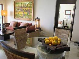 Balinese style dining and living room