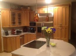 paint or replace oak cabinets with wood trim counters kitchen