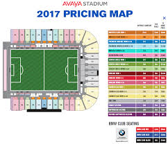 Map Pricing 2017 Avaya Stadium Season Ticket Pricing Map Spoiler It U0027s More