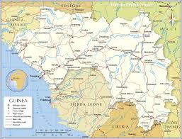 Map Of Mali Africa by Political Map Of Guinea 1200 Pixel Nations Online Project