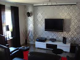 Living Room With Wallpaper Home Decorating Interior Design - Wallpaper living room ideas for decorating
