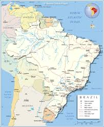 Political Map Of Latin America by Detailed Map Of Brazil Nations Online Project