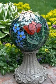 Gazing Ball Fountain 232 Best Mosaic Spheres U0026 Bowling Balls Images On Pinterest