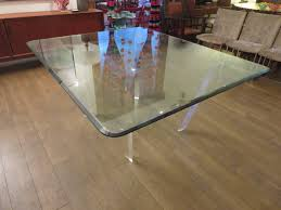 Lucite Dining Room Table Striking Lucite And Beveled Glass Dining Table By Roche Bobois At