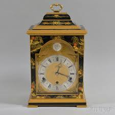 Grandmother Clock Elliot Lacquered Chinoiserie Decorated Bracket Clock And A