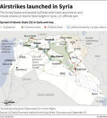 Iraq Syria Map by Us Led Coalition Bombs Isis By Iraqi Syria Border Business Insider