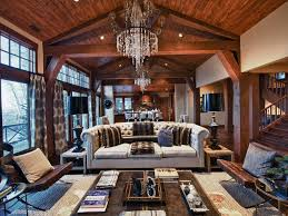 Exposed Beam Ceiling Living Room by Movie Theater Themed Living Room Living Room Ceiling Lighting