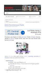 pabrik kemasan plastik daftar perusahaan di indonesia