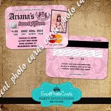 Card Invitation Juicy Couture Party Card Invitations Plastic Card Credit Invites
