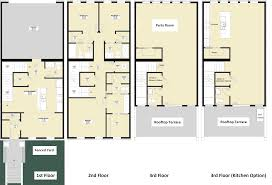 small 3 story house plans nice home zone