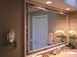 decorations fancy frame bathroom mirror featuring wall mounted
