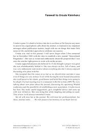 Farewell to Ursula Kleinhenz : Intercultural Pragmatics - iprg.2011.007