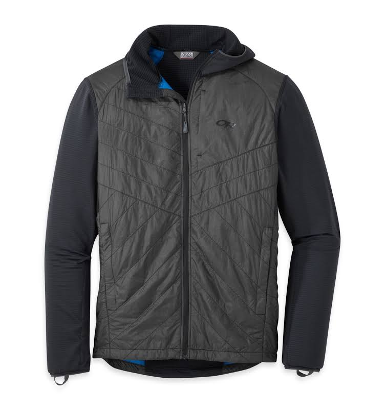 Outdoor Research Vigor Hybrid Hooded Jacket Black/Storm Small 2714271344006