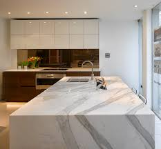 Marble Top Kitchen Islands by Stunning Carrera Marble Bespoke Kitchen Island With Inset Ice