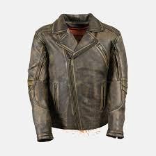 men s moto jacket men u0027s brown distressed leather police jacket bikers gear online usa