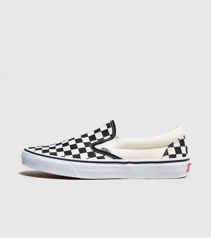 Vans Classic Slip-On (Black & White Checkerboard/White) Skate Shoes-8