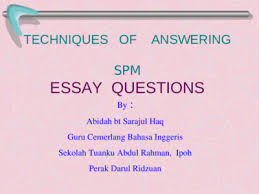Spm Essay Continuous Writing Sample