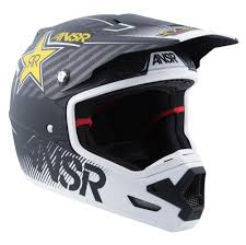 white motocross helmets racing evolve 3 rockstar mens motocross helmets