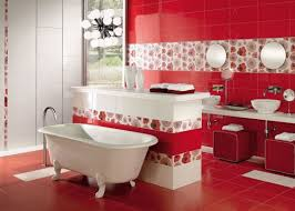 lovely red decorative tiles