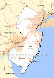 United States Map Delaware by New Jersey Maps