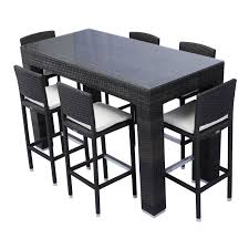 Patio Furniture Counter Height Table Sets - source outdoor bar height patio dining set seats 6 hayneedle