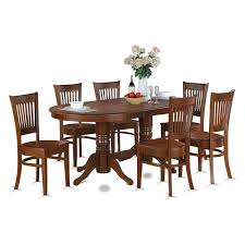 6 chair dining room set 7 pc oval dinette dining room set table and 6 upholstered